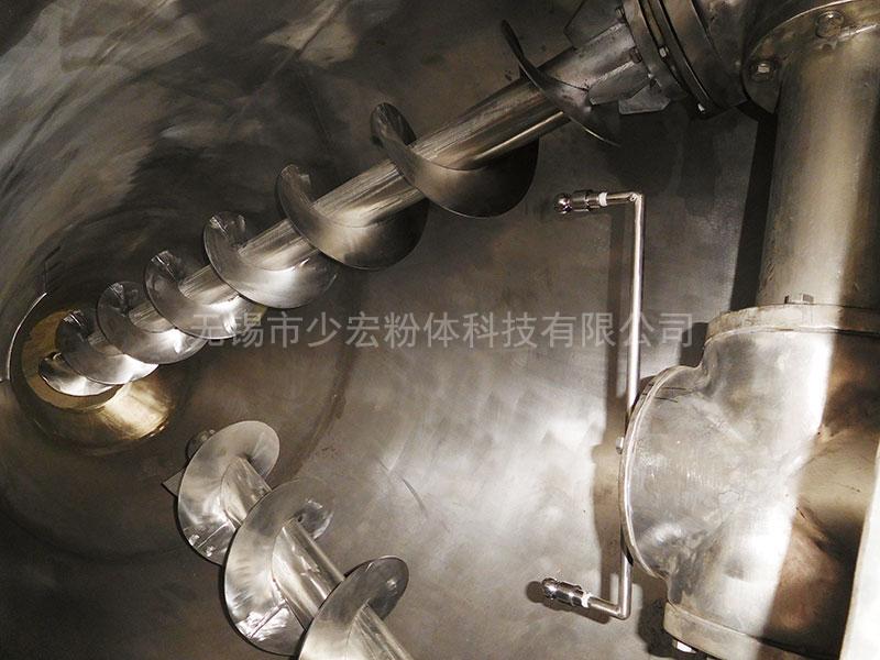 单锥双螺旋混合机na部结gou加装喷液